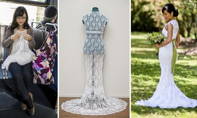 abito da sposa uncinetto